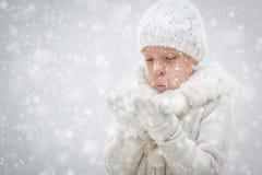 Winter Little Girl Royalty Free Stock Photos