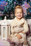 Winter little girl. Smiling  child. Cute kid. Stock Images