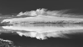 Winter at Loch Loyal Royalty Free Stock Photography