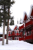 Winter lodge Stock Images