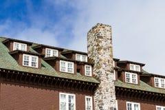 Winter lodge Stock Photo