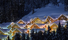 Winter Lodges Royalty Free Stock Photos