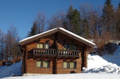 Winter Log Cabin Royalty Free Stock Photo