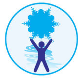 Winter logo Stock Photo