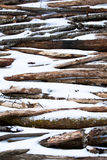 Winter logs Royalty Free Stock Images