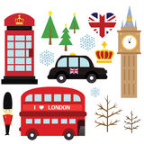 Winter in london (no background) Stock Photo