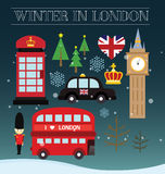 Winter in london Stock Photos