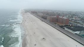 Winter Long Beach s New York stock video
