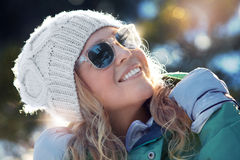 Winter look Stock Image