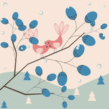 Winter love. Abstract natural seasonal background royalty free illustration
