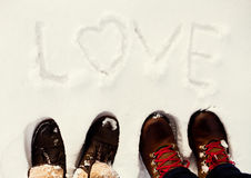 Winter love Stock Images