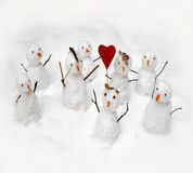 Winter love parade Royalty Free Stock Image