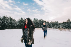 Winter Love Story Royalty Free Stock Photography