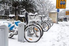Winter in Luxemburg Stockbilder