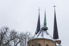 Winter in Luxemburg Stockbild