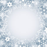Winter luxury festive frame with snowflakes Stock Photos