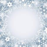 Winter luxury festive frame with snowflakes Stock Photos