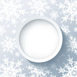 Winter luxury modern background with snowflakes Royalty Free Stock Photography