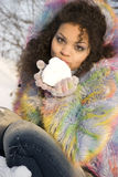 Winter-Mädchen stockbild