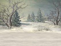 Winter-Märchenland-Hintergrund stock abbildung