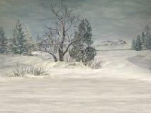 Winter-Märchenland-Hintergrund vektor abbildung