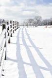 Winter-Märchenland im Land Lizenzfreies Stockbild