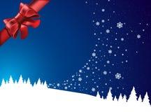 Winter-Märchenland mit rotem Bogen Stockbilder