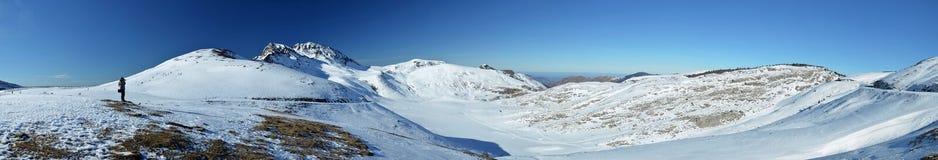 Winter macht außerhalb des Skiorts Urlaub Stockfotografie