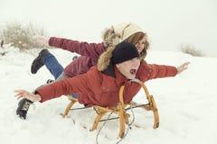 Winter magic fun Royalty Free Stock Photos