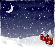 Winter magic night, vector Stock Image