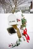 Winter mailbox Royalty Free Stock Photos