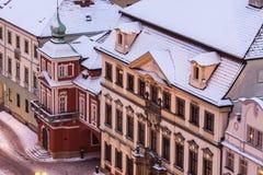 Winter on Main Square in Hradec Kralove Royalty Free Stock Photo