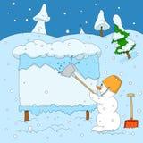 Winter maintenance Royalty Free Stock Photo