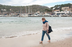 Winter in Majorca, Spain. Winter in Majorca, Port de Soller at Balearic island Royalty Free Stock Photo