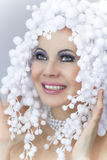 Winter make up. Beautiful woman Stock Photography