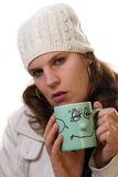 Winter Makes Me Sick Stock Photography