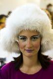 Winter makeup theme Stock Photos