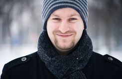 Winter male portrait Royalty Free Stock Photos