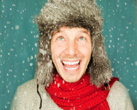 Winter man Stock Photography