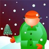 Winter man Stock Image