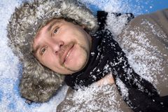 Winter man Royalty Free Stock Photos