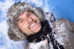 Winter man Royalty Free Stock Image