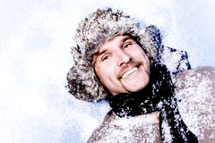 Winter man Stock Photos