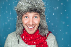 Winter man Stock Image