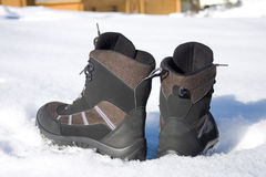 Winter man's boots Stock Photo