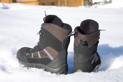 Winter man's boots Stock Photo