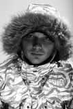 Winter man. snowboarder Royalty Free Stock Photography