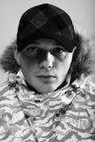 Winter man. snowboarder Stock Photos
