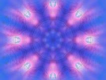 Winter-Mandala Stockbilder