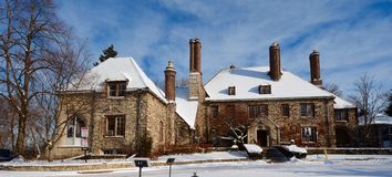 Winter Mansion Stock Images